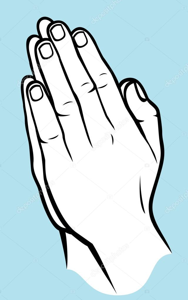 640x1023 Praying Hands (Vector Illustration Of Hands Folded In Prayer