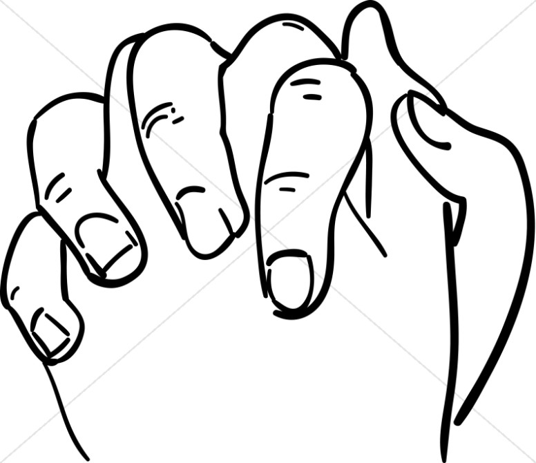 776x670 Clasped Hands In Outline Prayer Clipart