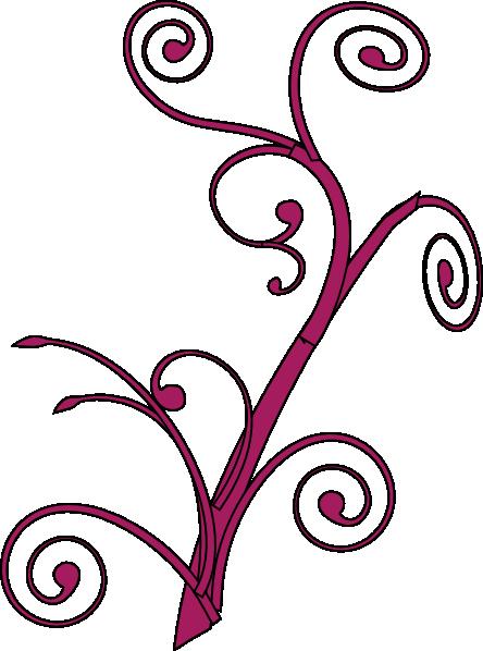 444x598 Rose Branch Swirl Svg Clip Arts Download