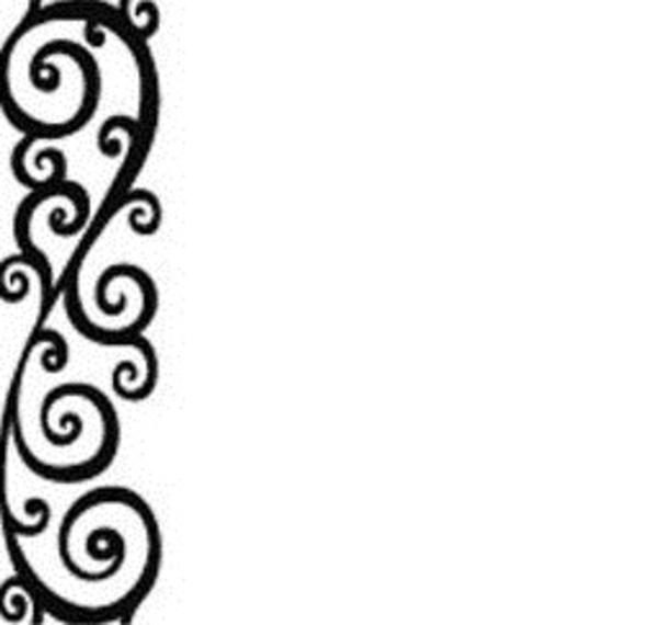 600x570 Swirl Design Border Clipart