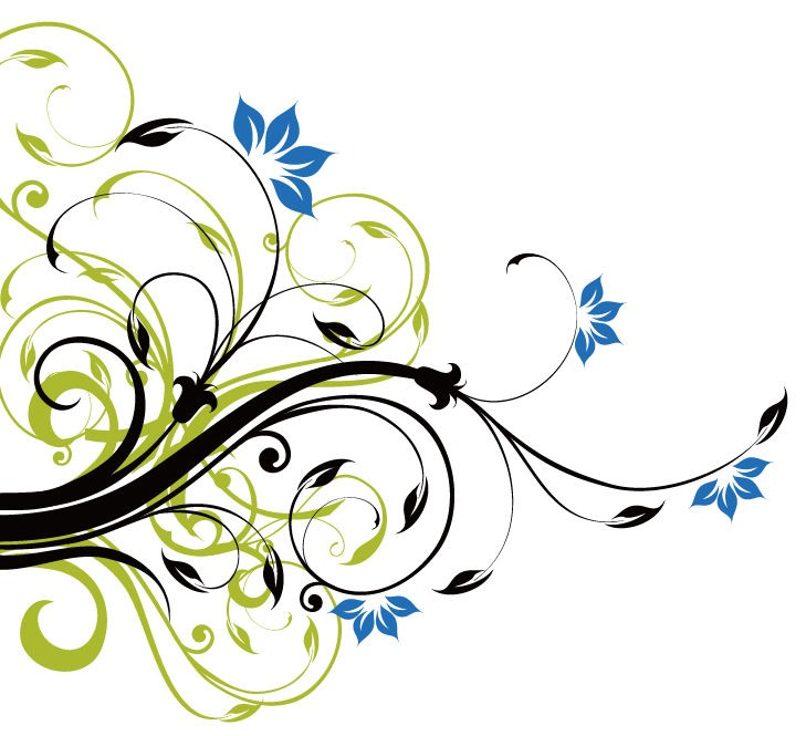 729x665 Swirl Floral Decoration Background Vector Graphic Vector Designs