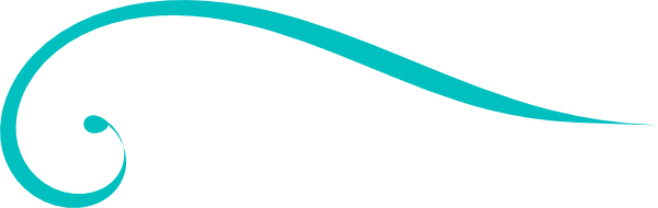 600x190 Swirl Clipart Turquoise