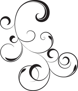 259x300 Vector Floral Swirl Royalty Free Stock Image