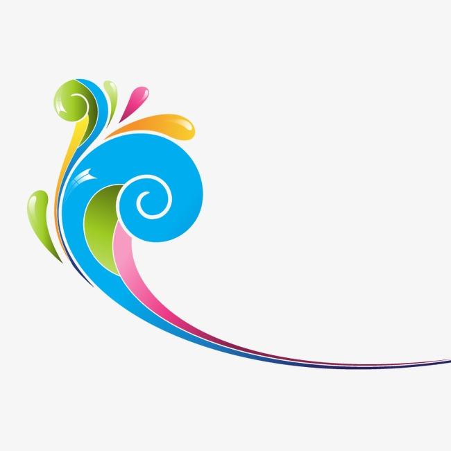 650x650 Color Decorative Swirls, Swirl, Colorful, Decoration Png