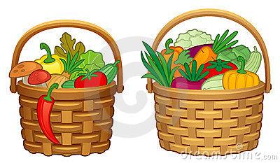400x233 Harvest Clipart Vegetable Basket