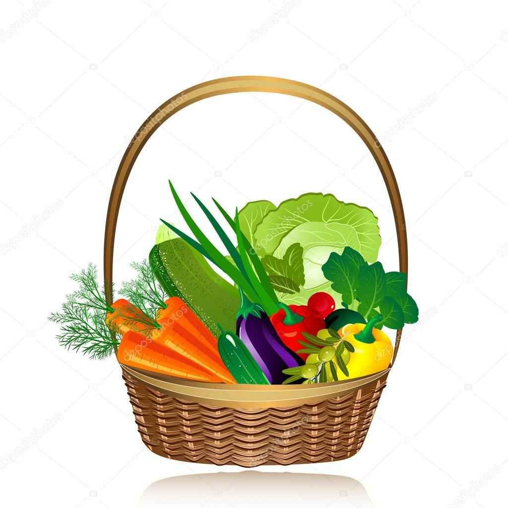 1024x1024 Vegetable Basket Vector Crazy 4 Images!, Vegetable Basket Clip Art