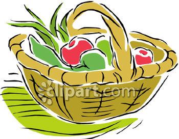 350x273 Vegetables In Basket Clipart