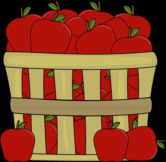 568x555 Apples In A Basket Clip Art