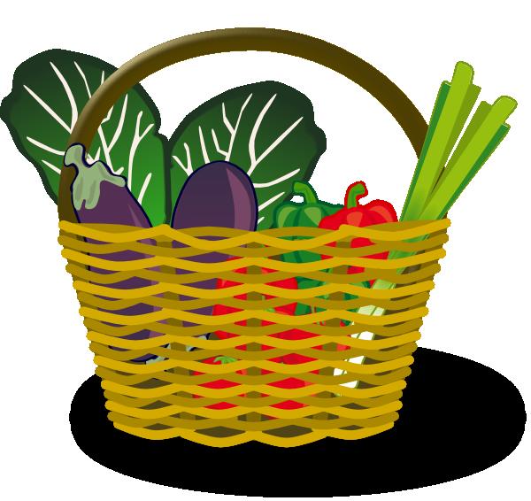600x566 Basket Of Vegetables Clip Art