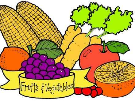 440x330 Fruit And Vegetable Border Clip Art, Vegetable Garden Clip Art
