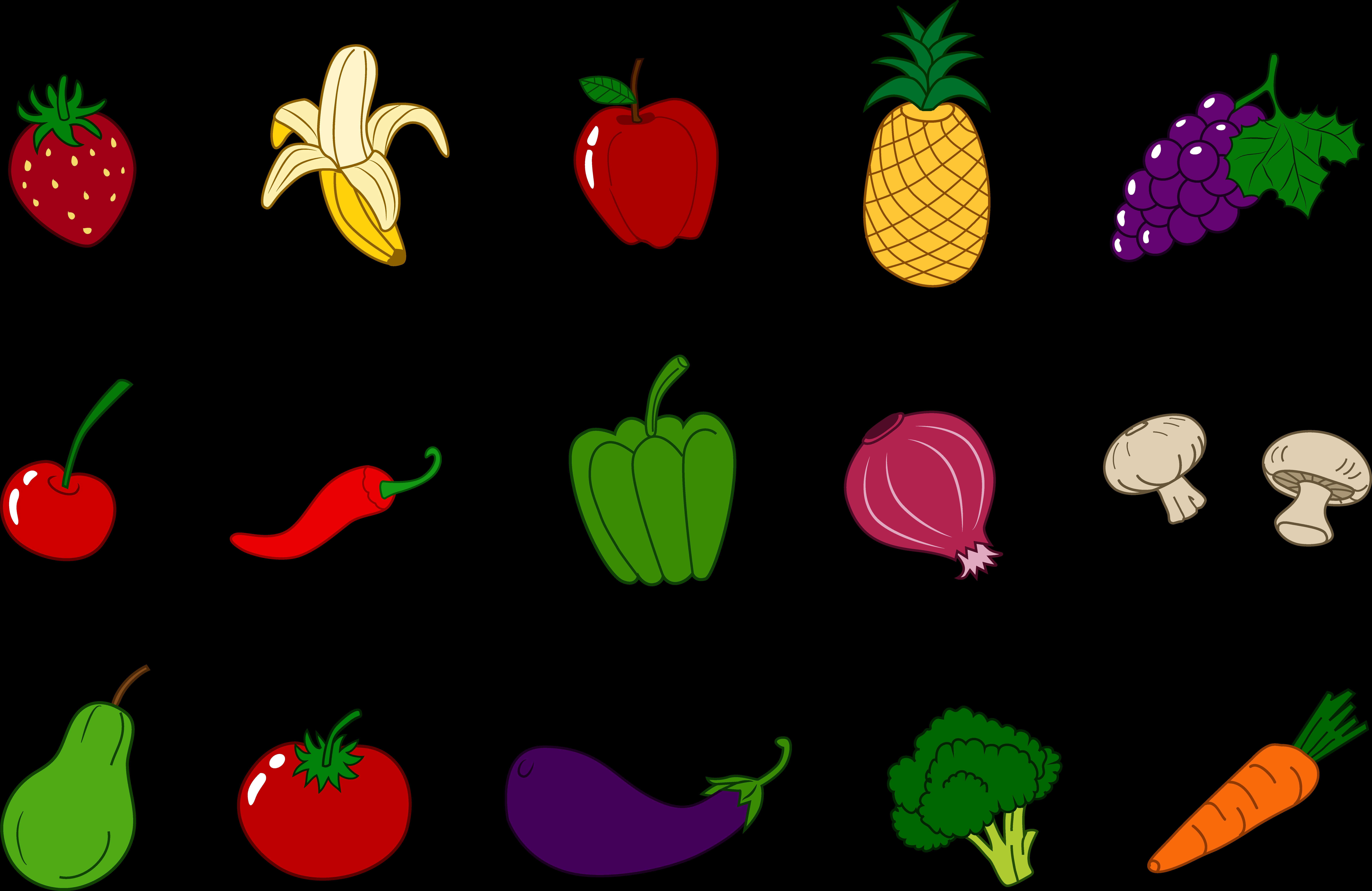 9555x6207 Fruit Vegetable Cliparts 213662