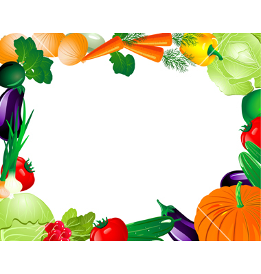 380x400 Vegetable Border Clipart