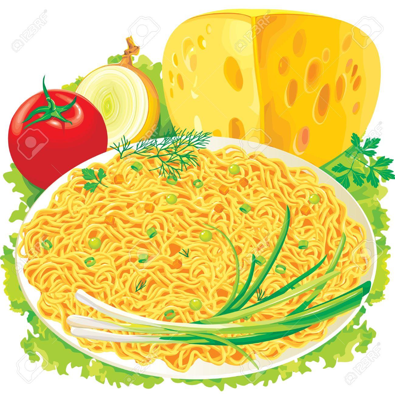 1300x1300 Vegetable Noodles Clipart