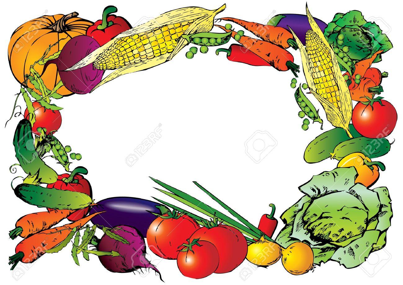 1300x920 Frame Clipart Vegetable