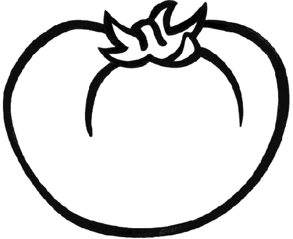 1000x814 Red Tomato Vegetable Vegetable Coloring Pages Kids Net