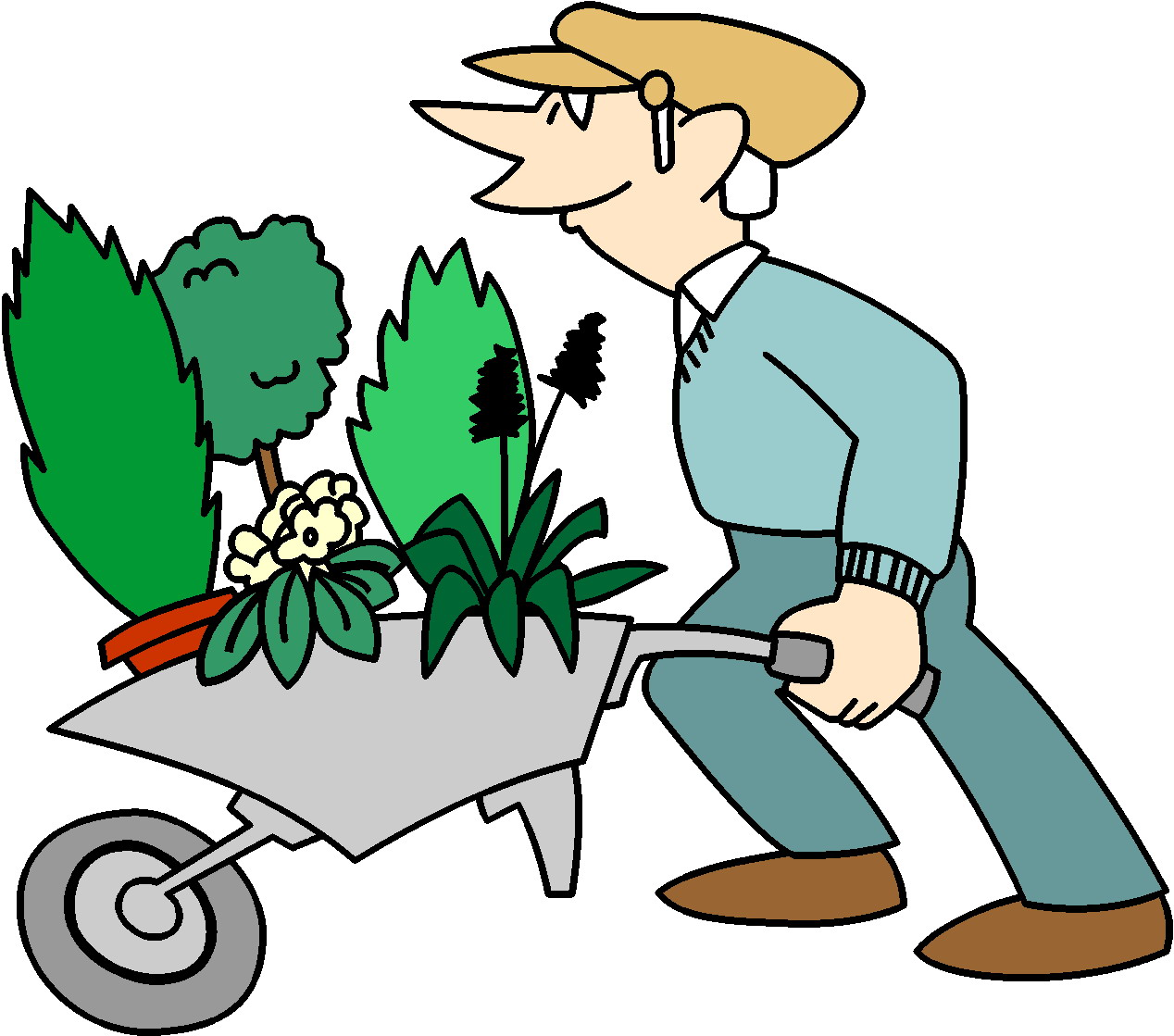1268x1119 Gardening Cliparts