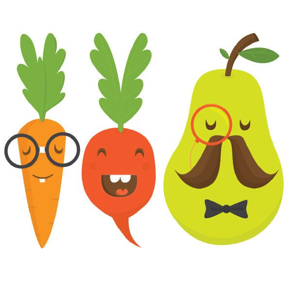 600x600 Fruits Amp Vegetables Clipart Kid Vegetable Garden