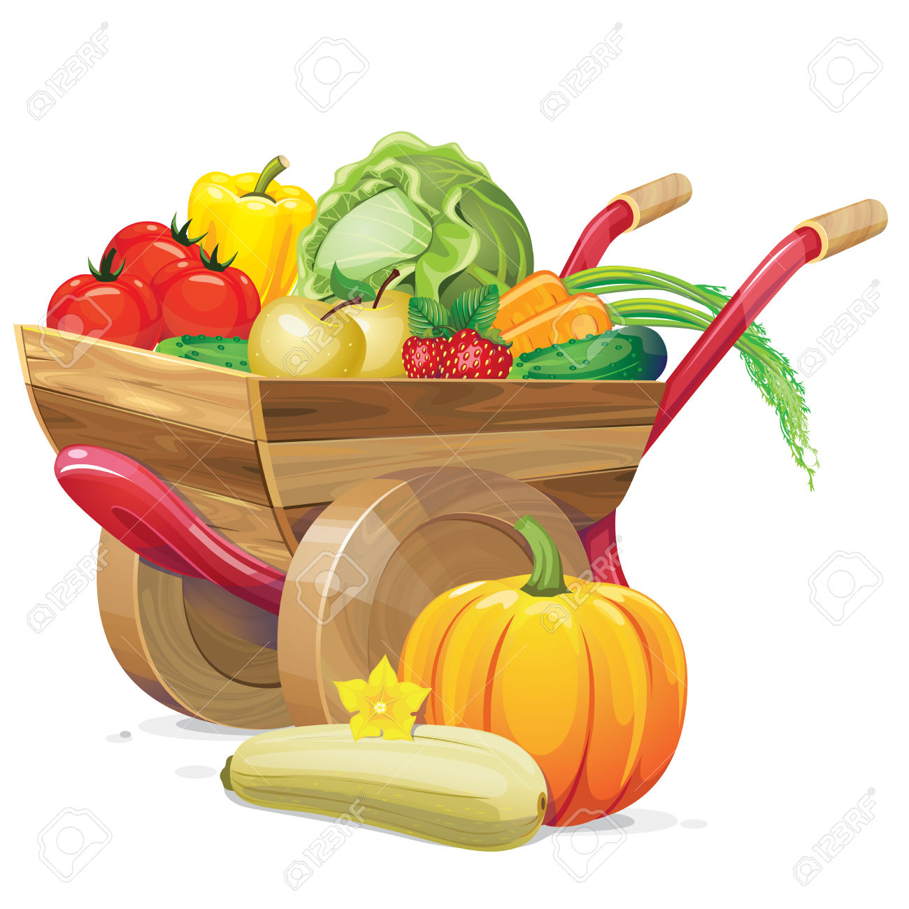 1300x1300 Vegetables Clip Art