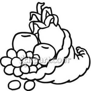 300x300 Cornucopia clipart fruits and vegetable