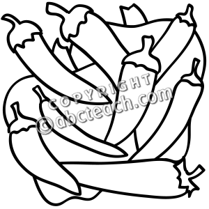 300x300 Vegetables clipart b w
