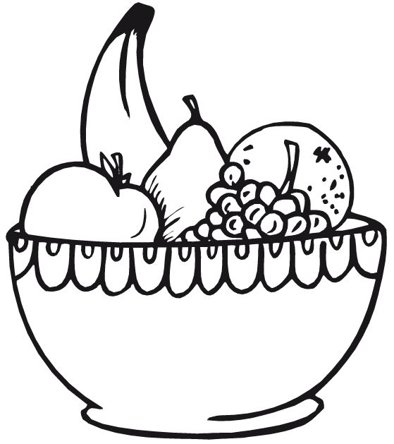 559x629 Vegetables clipart fruit bowl