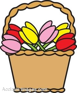 248x300 Clip Art Picture Of A Basket Of Tulips