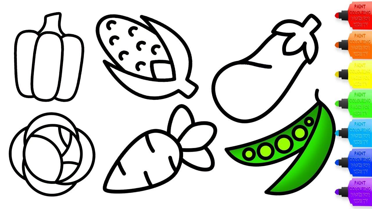 Vegetables Drawings   Free download best Vegetables Drawings on ...