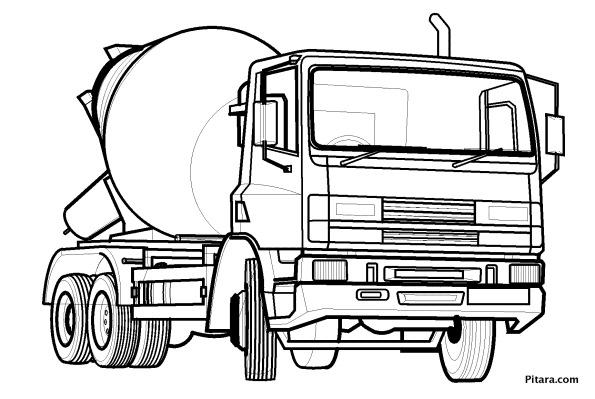 595x399 Land Transportation Coloring Pages Pitara Kids Network
