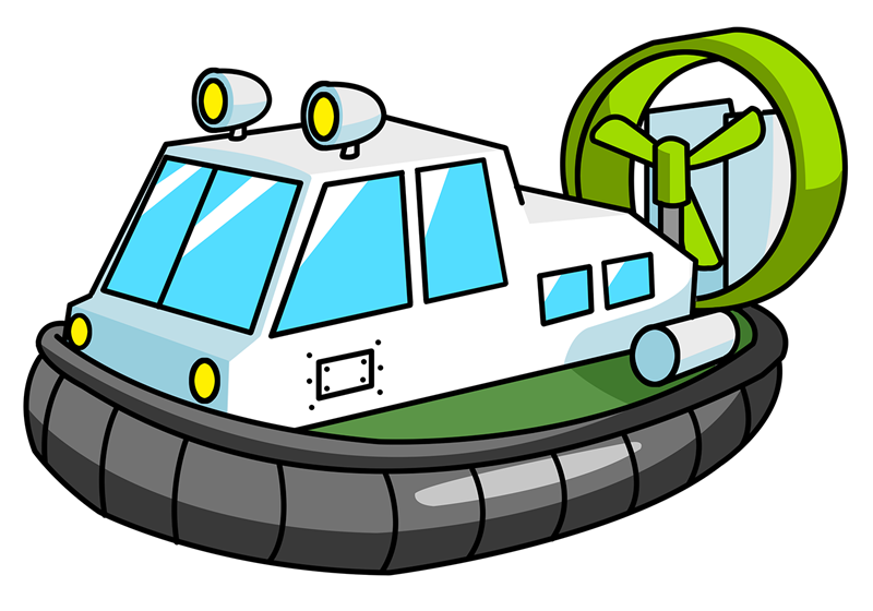 800x560 Free Cartoon Hovercraft Clip Art