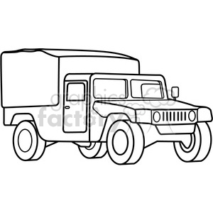 300x300 Royalty Free Military Armored Medic Vehicle Outline 398002 Vector
