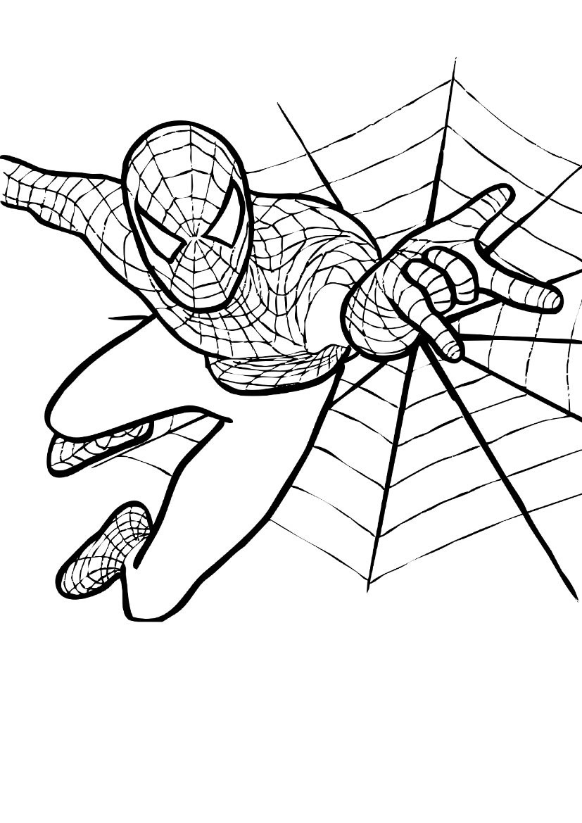 827x1169 Cool Coloring Page Spiderman 19