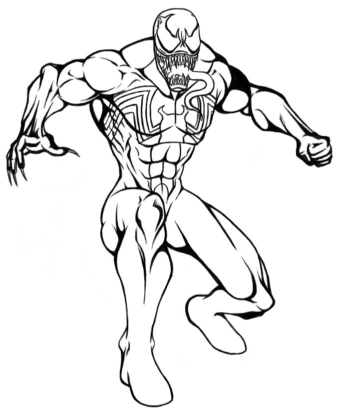 687x830 Cool Venom Coloring Pages 58 About Remodel Coloring Pages For Kids
