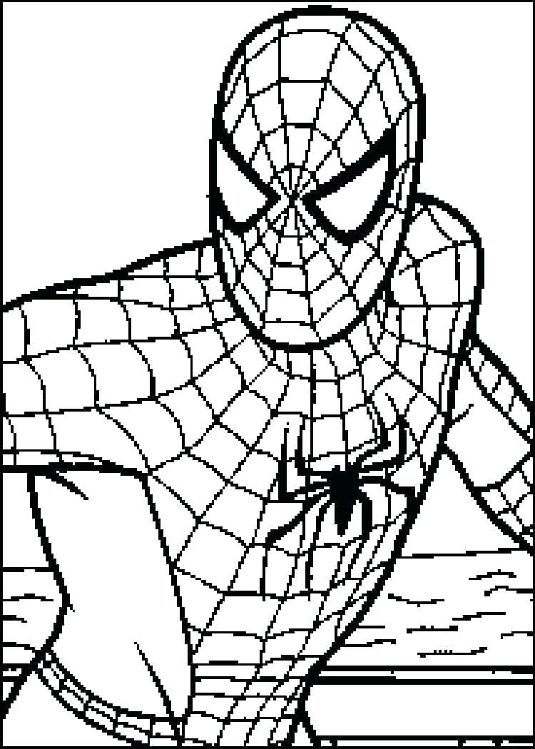 750x1050 Fantastic Spider Man Coloring Pages Print Out With Color To And 67