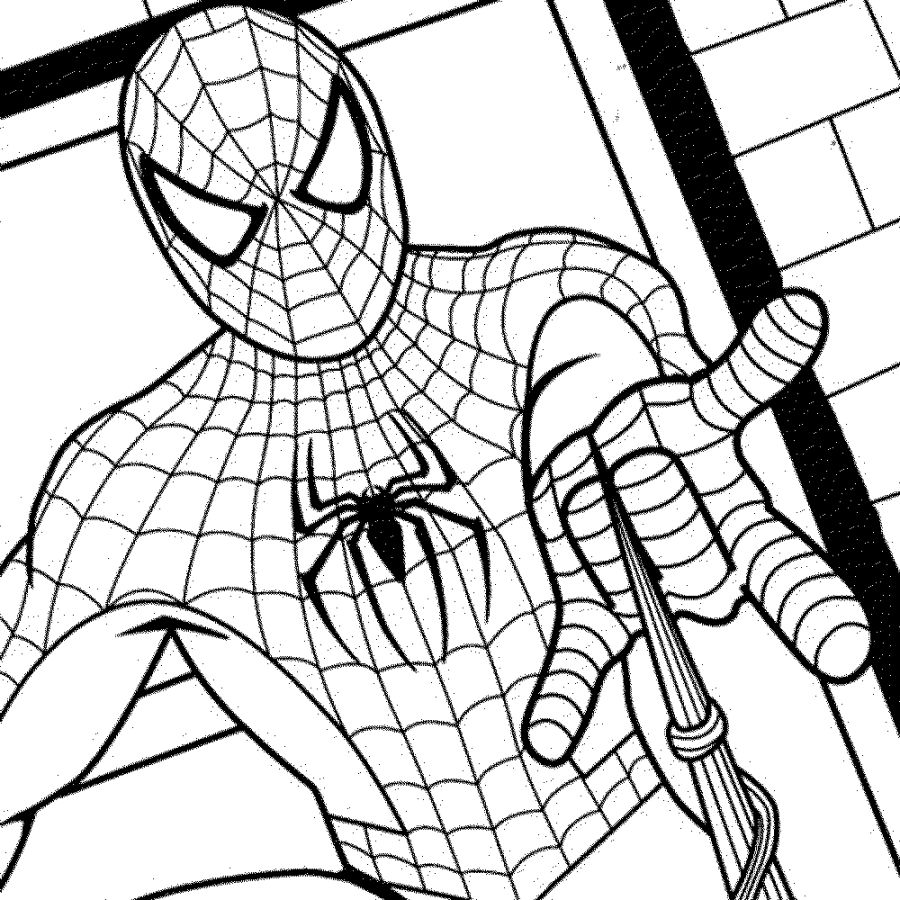 900x900 Spiderman Coloring In Pages Coloring Pages Kids