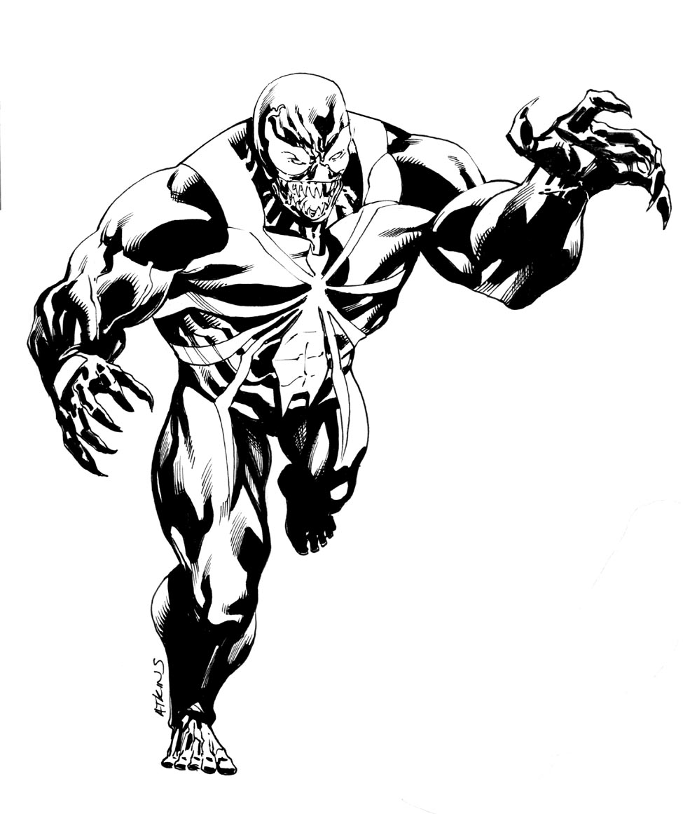 Venom Coloring Pages | Free download on ClipArtMag