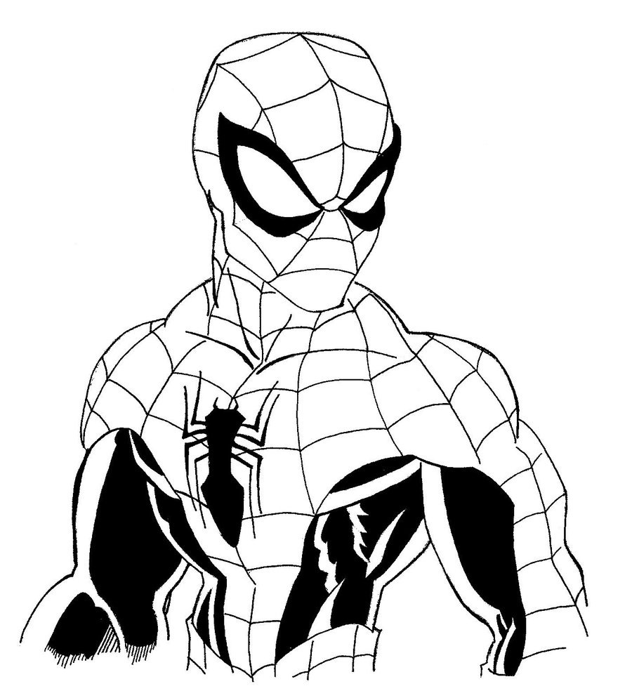 900x994 Wonderful Free Spiderman Coloring Pages 28
