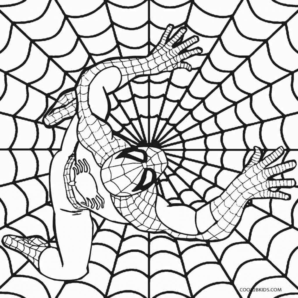 1024x1023 Spiderman Color Pages Printables Archives And Spiderman Coloring