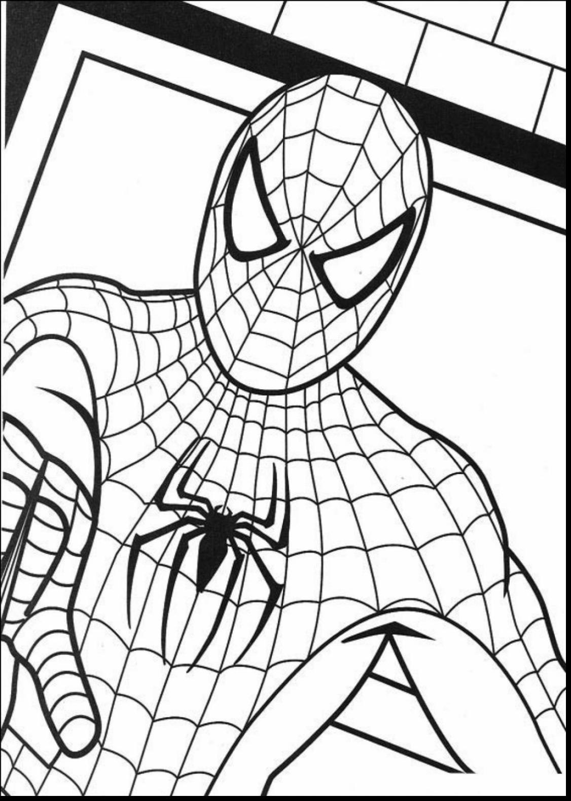 1126x1580 Superb Spider Man And Venom Coloring Pages With Spiderman Color