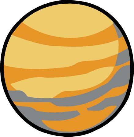438x450 Planets Clipart Venus