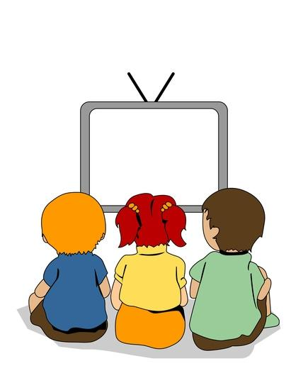 428x540 Cartoon Watching Tv Clipart Clip Art Library
