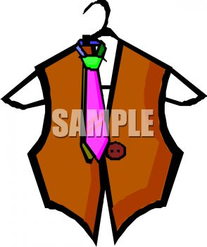 294x350 Royalty Free Clipart Image Vest And Tie