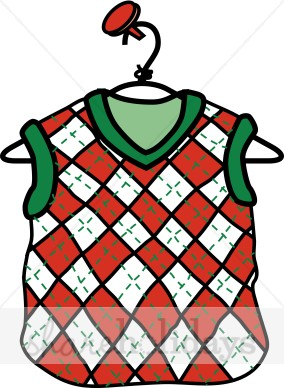284x388 Sweater Vest Clipart Christmas Clipart