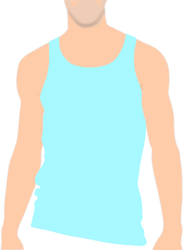 366x500 Vector Clip Art Of Top Of Male Body With A Vest On Public Domain