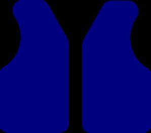 298x264 Blue Vest Clip Art