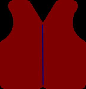 291x300 Button Vest Clip Art