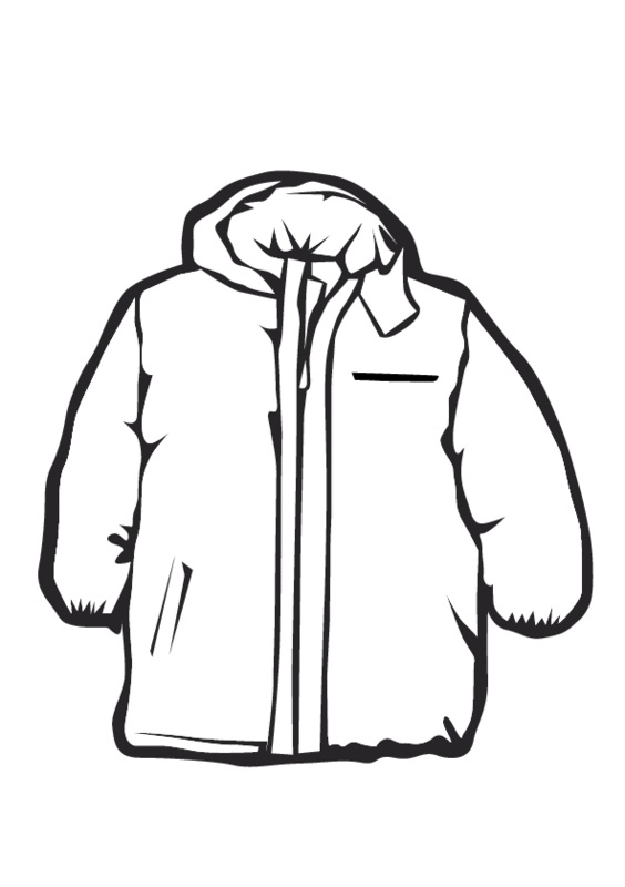 564x800 Coat Clipart Black And White