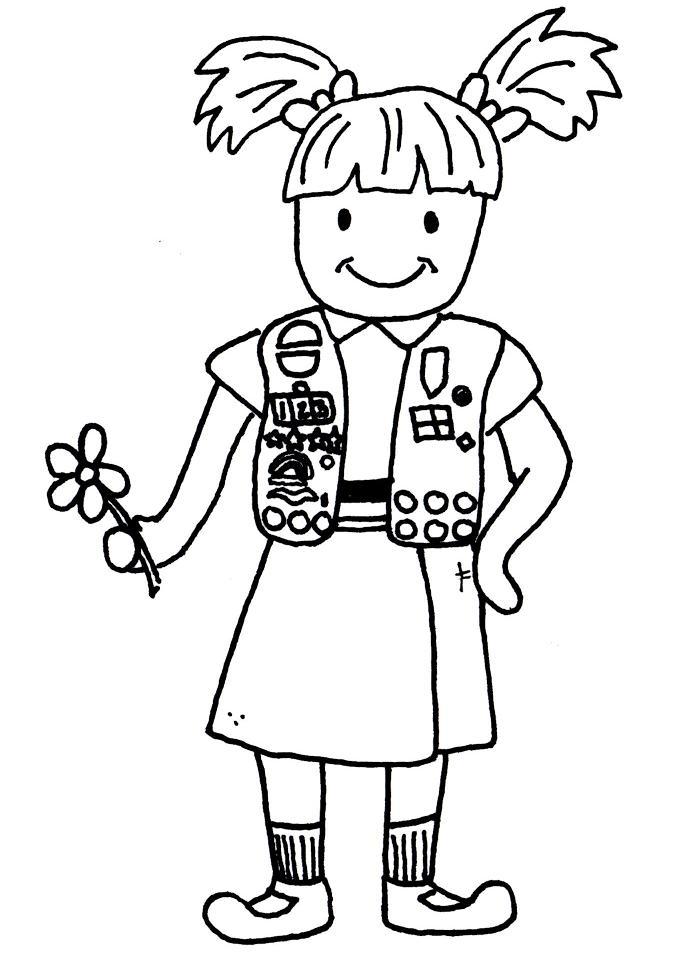 700x954 Girl Scout Uniform Clipart