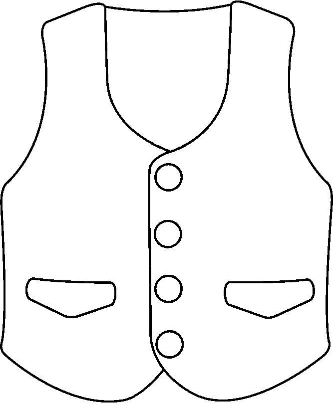 667x808 Vest Clipart