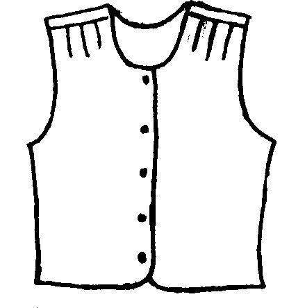 416x444 Vest Clipart