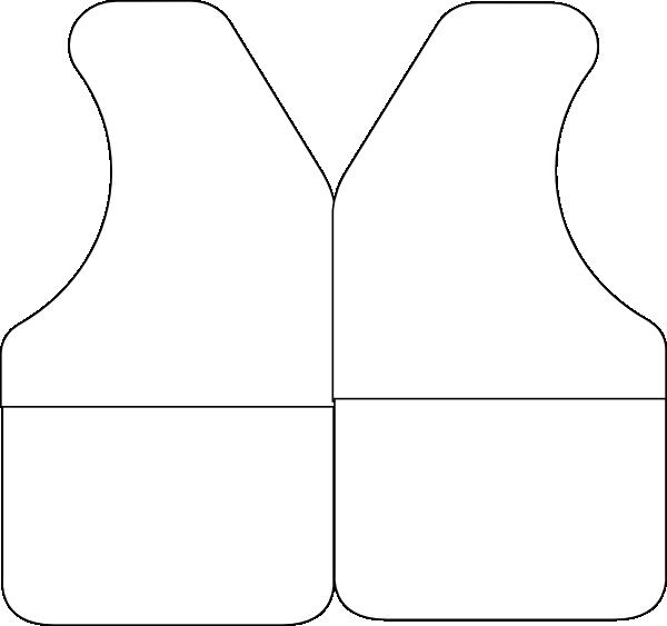 600x563 Black And White Vest Clip Art